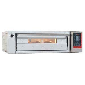Печь для хлеба электрическая подовая, 1 камера  830х660х180мм, сенсорное управление, дверь стекло, под камень, нерж.сталь