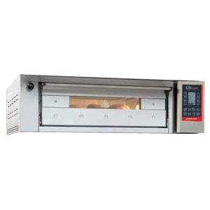 Печь для хлеба электрическая подовая, 1 камера  830х660х300мм, сенсорное управление, дверь стекло, под камень, нерж.сталь