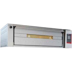 Печь для хлеба электрическая подовая, 1 камера 1240х660х300мм, сенсорное управление, дверь стекло, под камень, нерж.сталь