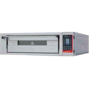 Печь для хлеба электрическая подовая, 1 камера  830х1260х180мм, сенсорное управление, дверь стекло, под камень, нерж.сталь, пароувлажнение