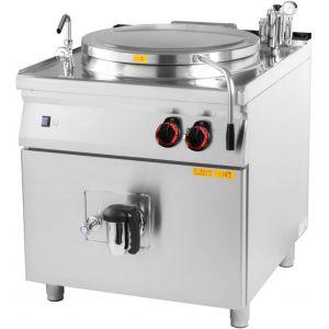 Котел пищеварочный электрический, неопрокидываемый, 100л, нагрев косвенный, корпус нерж.сталь, сливной кран, конический клапан