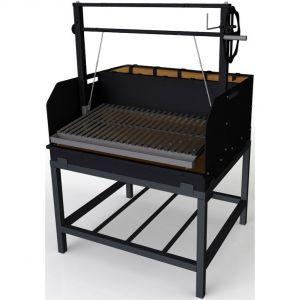 Гриль на углях, 1 решетка 850х465мм, подставка открытая, сталь, штурвал