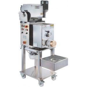 Пресс для макаронных изделий, загрузка 12кг, производительность 25-35кг/ч, матрицы бронзовые 9, 28, 89, 140мм, 380V, инвертор, устр. контроля скорости