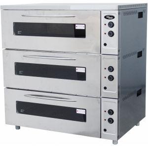 Шкаф жарочный, 3 камеры, цельный, противень 600х400мм или GN1/1, пароувлажнение, крашенный металл