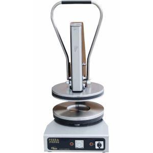Пресс для пиццы электрический настольный, D150мм, прессование ручное, борт, подпекание, нерж.сталь, поверхность верхняя прижимная