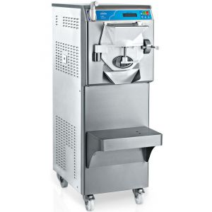 Фризер для твердого мороженого и слашей напольный, 1 узел раздаточный, 30-45кг/ч (42-60л/ч), серый, колеса, охл.водяное