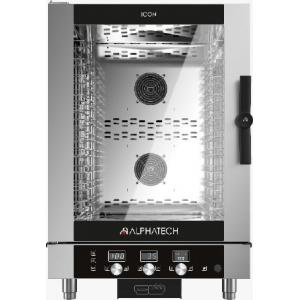 Пароконвектомат газовый инжекторный, 10GN1/1 (10EN), электронное управление, щуп, автореверс