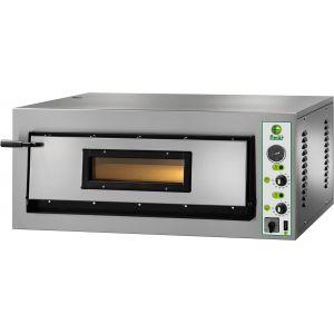 Печь для пиццы электрическая, подовая, 1 камера  610х610х140мм, 4 пиццы D300мм, электромех.управление, дверь стекло, под камень
