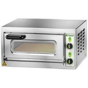 Печь для пиццы электрическая, подовая, 1 камера  400х400х110мм, 1 пицца D400мм, электромех.управление, дверь стекло, под камень