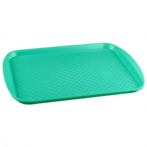 Поднос L 45см w 35см прямоугольный, полистирол зеленый