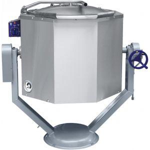 Котел пищеварочный электрический, опрокидывание ручное, 160л, нагрев косвенный, корпус нерж.сталь
