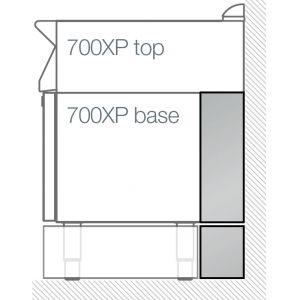 Панель боковая узкая с плинтусом, для модулей серии 700XP, для сервисного канала