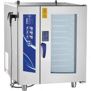 Пароконвектомат электрический инжекторный, 10GN1/1, электронное управление, щуп, реверс, душ, полуавтоматическая мойка