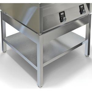 Подставка под плиту ИПП-410196,  800х800х550мм, без столешницы, открытая, 1 полка, нерж.сталь 430, разборная