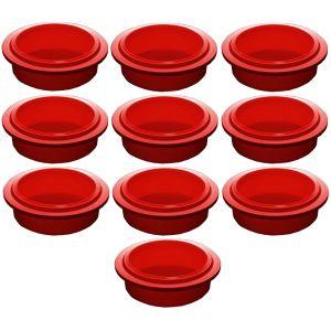 Крышка для стакана для гомогенизатора Pacojet, красная, комплект 10шт.