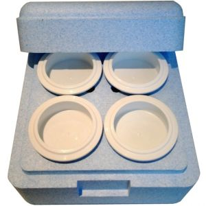 Термобокс на 4 стакана для гомогенизатора Pacojet, серый пенопласт