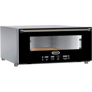 Печь для пиццы электрическая, подовая, 1 камера  600х400мм, 4 пиццы D200мм, электронное управление, дверь стекло, под камень