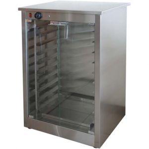 Шкаф расстоечный для печей ALFA43, 10x(435х320мм), 2 двери стекло, +40/+45С, нерж.сталь, 220V, ножки, электромех.упр., увлаж.