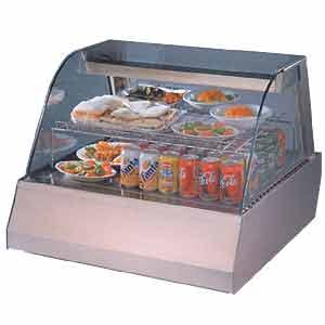 Витрина холодильная настольная, горизонтальная, L0.75м, 2GN1/1, 1 полка, +6/+15С, нерж.сталь, стекло фронтальное гнутое, двери-купе
