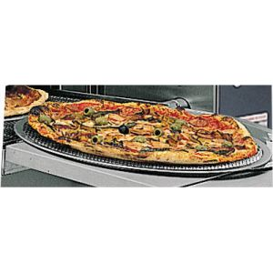 Противень для печи для пиццы подовой, 360х360мм, сетчатый, алюминиевый, круглый