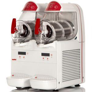 Аппарат для замороженных напитков (гранитор), 2 ванны по  6л, белый
