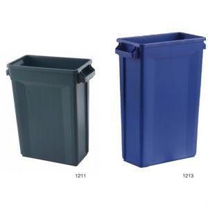 Контейнер для мусора SLIM L 50,7см w 27,2см h 75,6см 87л с ручками, пластик серый