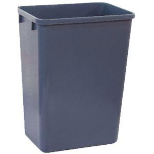 Корзина для мусора L 38,7см w 27,9см h 50,5см 39л, пластик черный