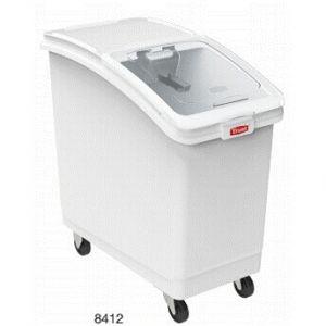 Контейнер для сыпучих продуктов L 74,3см w 39,4см h 75см 100л, пластик белый