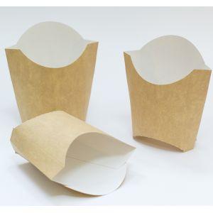 Коробка для картофеля фри 90x34x125мм Крафт бумага