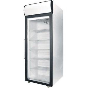 Шкаф холодильный,  700л, 1 дверь стекло, 5 полок, ножки, +1/+10С, дин.охл., белый, канапе и рамка чёрные, LED