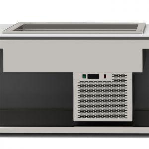 Ванна холодильная встраиваемая, L1.41м, 4GN1/1-150, -8/+5С, стат.охл., нерж.сталь