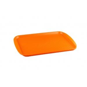 Поднос L 42см w 30см прямоугольный, полистирол оранжевый