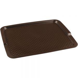 Поднос L 42,5см w 32см прямоугольный, полипропилен коричневый