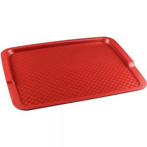 Поднос L 42,5см w 32см прямоугольный, полипропилен красный