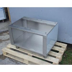 Подставка под оборудование,  800х540х575мм, без столешницы, полузакрытая без дверей, нерж.сталь