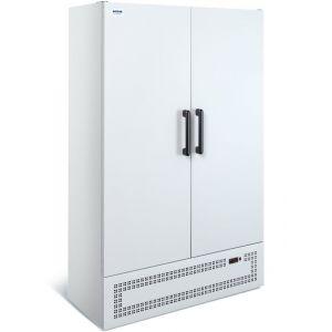 Шкаф холодильный,  870л, 2 двери глухие, 8 полок, ножки,  0/+7C, дин.охл., белый, агрегат нижний