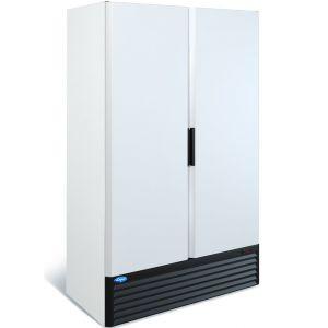 Шкаф холодильный, 1120л, 2 двери глухие, 8 полок, ножки, 0/+7C, дин.охл., белый, агрегат нижний