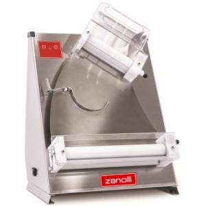 Тестораскатка электрическая настольная, длина роликов 310мм, управление ручное, нерж.сталь, ролики наклонные