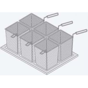 Набор из 6 перфорированных порционных корзин и рамы, для VCC w 112L