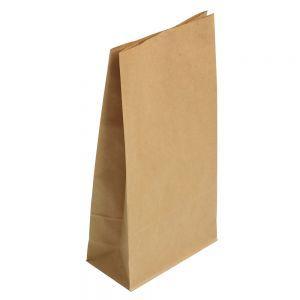 Пакет бумажный 210х105х60мм прямоугольное дно крафт