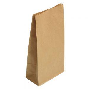 Пакет бумажный 220х140х80мм прямоугольное дно крафт