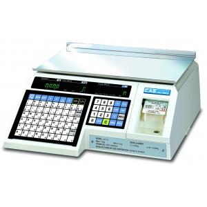 Весы электронные торговые, настольные, ПВ 0.02-6.00кг, платформа 400х245мм, подключение от сети, корпус пластик, принтер, v.1.6