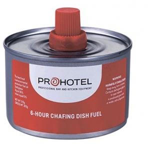 Топливо д/мармитов и фондю гель 265гр;сталь;D=8,3см;металлич.