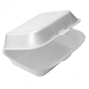Контейнер-ланчбокс 400мл вспененный полистирол белый