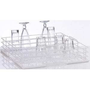 Корзина посудомоечная для стаканов для машин посудомоечных UC-M, UC-L, UC-XL, PT-500, PT-M, PT-L, PT-XL, GS630, 500х500мм (размер L), 4 ряда, пров.