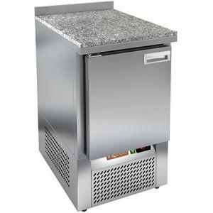 Стол холодильный, GN1/1, L0.57м, борт H50мм, 1 дверь глухая, ножки, -2/+10С, нерж.сталь, дин.охл., агрегат нижний, гранит.пов.