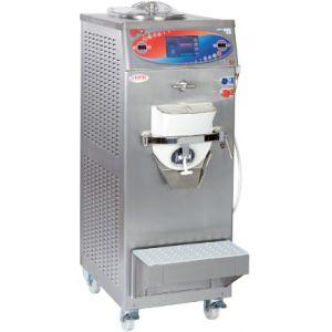 Фризер для мороженого, муссов и кремов напольный, 1 узел раздаточный, 20-30л/ч, нерж.сталь, пастеризация, охл.водяное, колеса