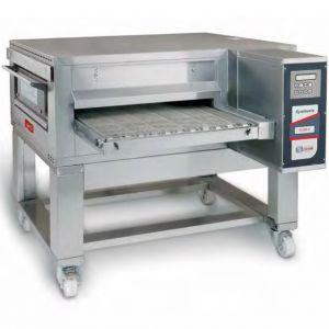 Печь для пиццы электрическая, конвейерная, 1 камера 650х1100х100мм, электронное управление, нерж.сталь, подставка передвижная
