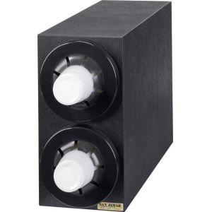 Диспенсер для стаканов 236-1301мл, D79/114мм, настольный, 2 секции, чёрный