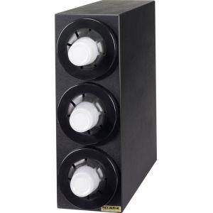 Диспенсер для стаканов 236-1301мл, D79/114мм, настольный, 3 секции, чёрный